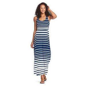 Athleta Striped Jersey Maxi Dress